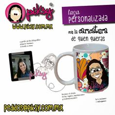 regalo divertido original personalizado con la caricatura de quien quieras TAZA personalizada hecho en méxico