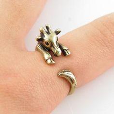 Vintage-Gold Giraffe Wrap Ring   KejaJewelry - Jewelry on ArtFire. Precious
