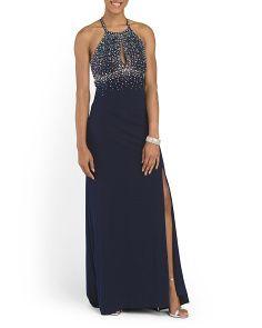 Long Halter Gown