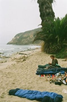 beach camping - I really wanna do this this summer.
