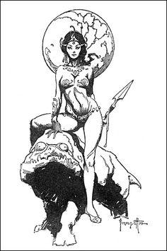 A Princess Of Mars Interior: Dejah Thoris & Woola