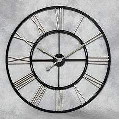 Industrial Huge White Metal Wall Clock Metal walls and Wall clocks