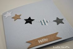Kuistin kautta: DIY: Ristiäiskutsu Diy Paper, Paper Crafts, Diy And Crafts, Christmas Cards, Gift Wrapping, Party, Gifts, Google, Bebe