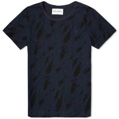 OUR LEGACY WEAVE TEE Navy Running Flames