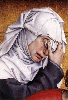 Kreuzabnahme (Detail)  von Rogier van der Weyden