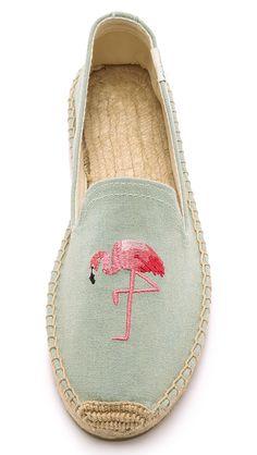 Soludos Flamingo Smoking Slipper Espadrilles