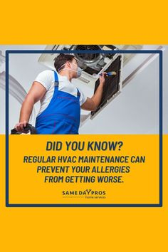 Problems in the HVAC system can lead to poor air quality inside your home! Call a reliable HVAC service for a system inspection. Find contractors near you on Same Day Pros!