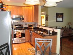 Small Living Room Kitchen Combo | family/room kitchen combo, Our kitchen and family room. We recently ...