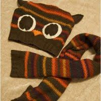 Hat and Scarf from Sweater.  For my kiddos and birthdays in the fall and winter.