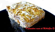 Il Pomodoro Rosso di MAntGra: Mattonella di mascarpone, crema di nocciole e pist...