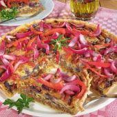 Lajos Mari konyhája - Gombás-sonkás sertésrolád Pizza, Quiche, Tacos, Mexican, Ethnic Recipes, Food, Red Peppers, Essen, Quiches