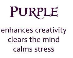 calming purple