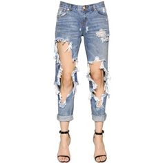 ONE TEASPOON Awesome Baggies Destroyed Denim Jeans