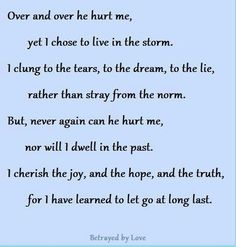 I chose to live in the storm