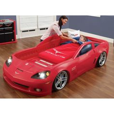 Step2 Corvette Car Bed with Lights & Reviews | Wayfair