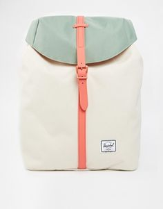 Herschel Supply Co - Backpack - Natural - Style - Mint - Salmon