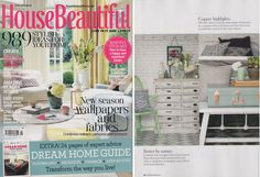 Our Classic Clarendon Linen on Grey cushion was featured in House Beautiful magazine this month, in their gorgeous Spring editorial!