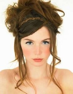 the hair looks like a hot mess, but the way that they did blush is interesting. might have to try that on my pale self.