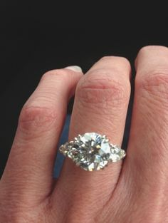 solitaire with baguette side stones - Google Search
