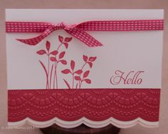 Delicate Designs embossing folder and matching framelit from SU.