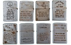 The Vietnam War remains a troubled part of American and world history causing all kinds of personal and political upsets. Coming across these custom engraved zippo lighters belonging to U.S. Army members in the war does not suggest anything different... Each Zippo features personalized and anonymous engravings by U.S. soldiers, sailors, and airmen during their deployment in Vietnam. The collection has been compiled individually by artist Bradford Edwards over several years in the 1990s.