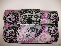 Lavender and Silver and Black Rose Clutch Charmante by joliefemme, $12.00