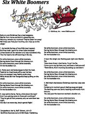 Santa and his six white boomers song and free printables. Christmas in Australia. Santa and his six white boomers song and free printables. Christmas in Australia Santa and his six