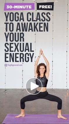 fitness Did you know that certain yoga poses can actually increase your sex drive and activate your sexual energy? This yoga sequence offers those poses - enjoy! Qi Gong, Vinyasa Yoga, Ashtanga Yoga, Kundalini Yoga, Yoga Meditation, Yoga Fitness, Enjoy Fitness, Bodyweight Fitness, Fitness Pants