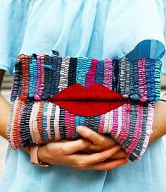 Clutch bags are Diy Clutch, Sewing To Sell, Boho Bags, Patchwork Bags, Boho Diy, Cotton Bag, Knitted Bags, Purses And Bags, Weaving