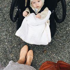 Heirloom Baby Blanket / White and Cream Pom by CharleyCharlesShop