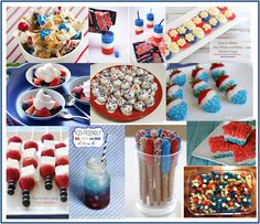 Ten (10) Patriotic Red, White and Blue Foods for Fourth of July
