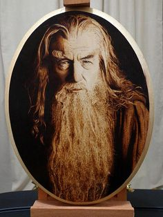 Lord Of The Rings Pyrography