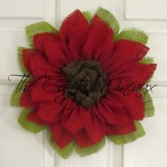Just sold! Get your house ready for #Summer with a #Burlap #Sunflower #Wreath! Also on thecraftywineaux.com!
