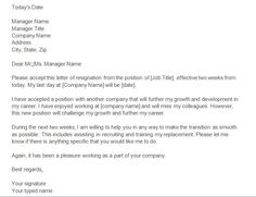 3 Highly Professional Two Weeks Notice Letter Templates | Pinterest ...