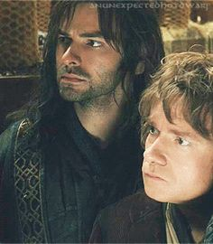 KILI AND BILBO! I needed this gif in my life