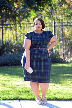 Plus Size Fashion for Women - GarnerStyle | The Curvy Girl Guide: Mad for Plaid