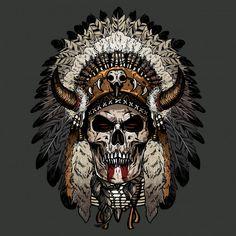 Hand getrokken schedel apache Premium Ve. Native American Tattoos, Native Tattoos, Native American Artwork, Indian Headdress Tattoo, Indian Skull Tattoos, Indian Tattoo Design, Aztecas Art, Beautiful Dark Art, Skull Pictures