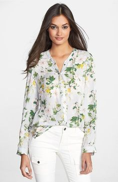 So beautiful (but too expensive)! Joie 'Divitri' Silk Blouse available at #Nordstrom