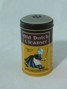 Vintage  Old Dutch Cleanser Tin  Can  Tin   MG283 by MasterGreig,