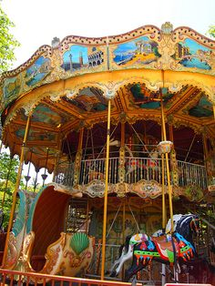 Twist on ring. Ride the merry go round and catch the brass ring!