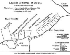 1784 Haldimand sets up 8 new townships for settlement along the upper St Lawrence from the westernmost seigneury to modern Brockville, Ontario, and 5 more around Cataraqui. Kings Man, St Lawrence, Family Genealogy, New Brunswick, Nova Scotia, Family History, Geography, Dna, Ontario