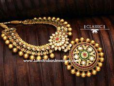 Kundan Antique Gold and equipment legitimately Necklace India Jewelry, Temple Jewellery, Hereford, Indian Wedding Jewelry, Bridal Jewelry, Gold Jewelry, Statement Jewelry, Antique Necklace, Antique Jewelry