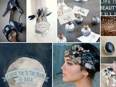 {moonbeam} navy, silver, and white star and moon themed wedding inspiration and ideas http://burnettsboards.com/2012/11/moonbeam/