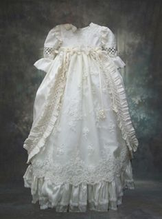 Exceptional workmanship and attention to detail silk christening gown