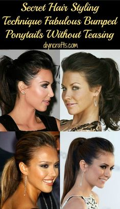DIY fabulous bumped ponytail without a bump-it or without teasing. And, you can do it in about three minutes. This is a great method for those of you who like the bumped ponytail look but have little time to create it. #hair #beauty #easy #ponytail