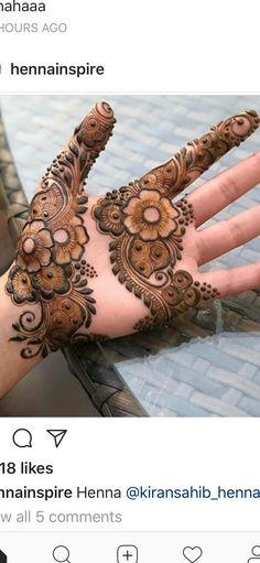 Hye friends did you like this? Basic Mehndi Designs, Floral Henna Designs, Mehndi Designs For Girls, Stylish Mehndi Designs, Mehndi Designs For Beginners, Mehndi Design Pictures, Wedding Mehndi Designs, Mehndi Designs For Fingers, Beautiful Henna Designs