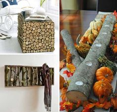 40 DIY Log Suggestions Take Rustic Decor To Your House - http://www.decoradvisor.net/others/40-diy-log-suggestions-take-rustic-decor-to-your-house/
