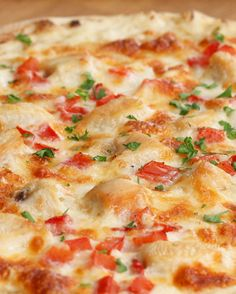 Chicken Alfredo Pizza | Chicken Alfredo Pizza