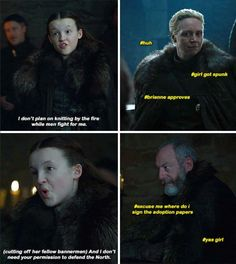 Game of thrones season 7 funny humour meme  EP. 1. Lyanna Mormont, Brienne of Tarth, Ser Davos Seaworth