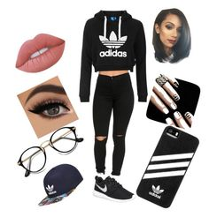 My style by bluejay100 on Polyvore featuring polyvore, moda, style, Topshop, NIKE, adidas, Lime Crime, fashion and clothing